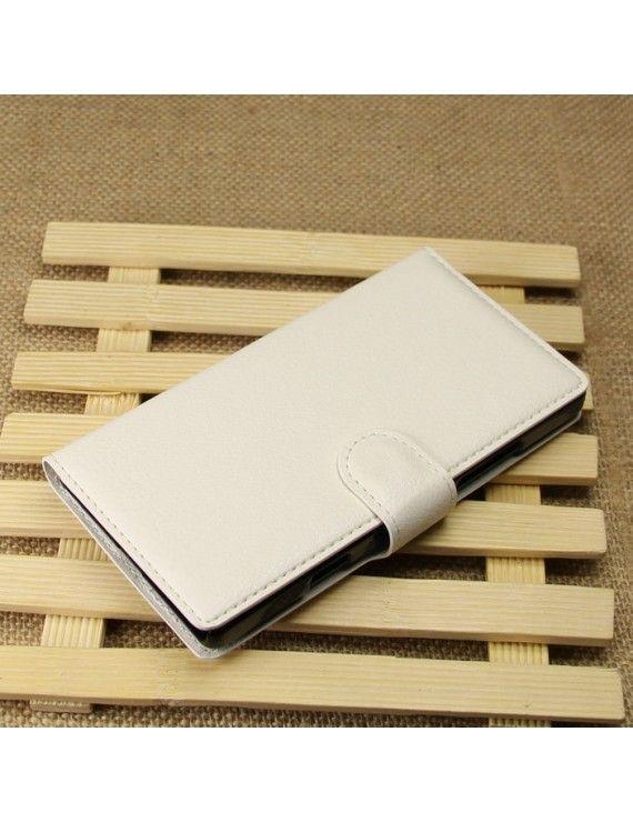 Δερμάτινη Θήκη Πορτοφόλι με Βάση Στήριξης για Nokia Lumia 930 / Lumia Icon 929 - Λευκό