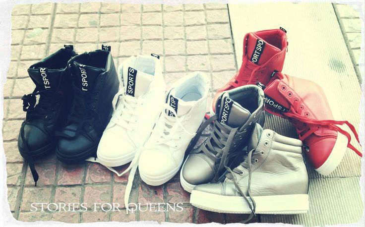 μποτακι αθλητικο σε δερμα με εσωτερικη φιαπασε λευκο,μαυρο,γκρι και κοκκινο ΔΙΑΘΕΣΙΜΑ ΝΟΥΜΕΡΑ ΑΠΟ 36-41. τωρα στα 25ε το ζευγαρι!!!!!!!!!! #fashionista #storiesforqueens #handmadecollection #handmade #fashion #μοδα #lovemyboots