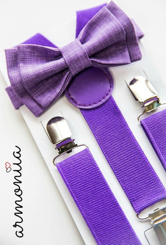Toddler Bow Tie & Suspenders  Toddler Suspenders  by armoniia