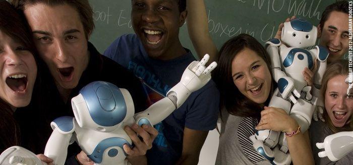 Vive Les Robots! case study: Aldebaran Robotics: Nao and education (2012): http://vivelesrobots-education.dk/english/vive-les-robots!-cases/aldebaran-robotics-nao-and-education