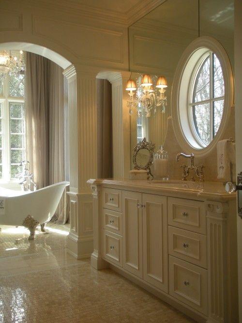 Gorgeous.Bathroom Design, Decor Bathroom, Dreams Bathroom, Beautiful Bathroom, Traditional Bathroom, White Bathroom, Bathroom Interiors Design, Master Bathroom, Design Bathroom