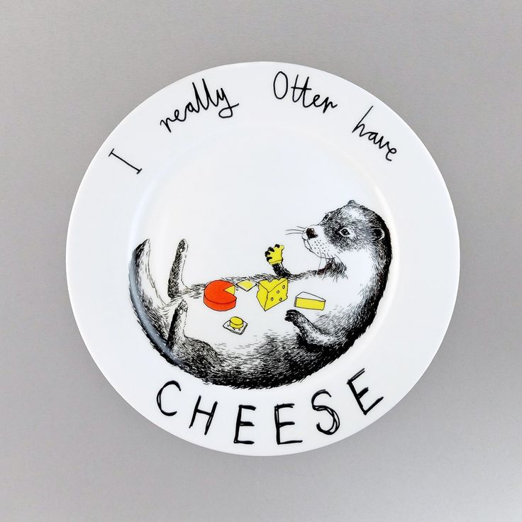 'Otter have cheese' Side Plate - Jimbobart