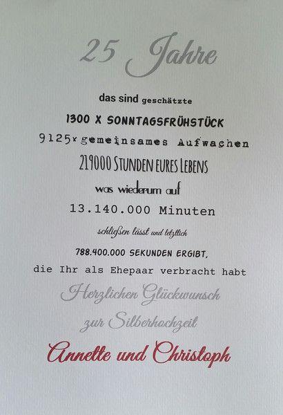 Geldgeschenke - Druck Silberhochzeit - ein Designerstück von textatelier bei DaWanda