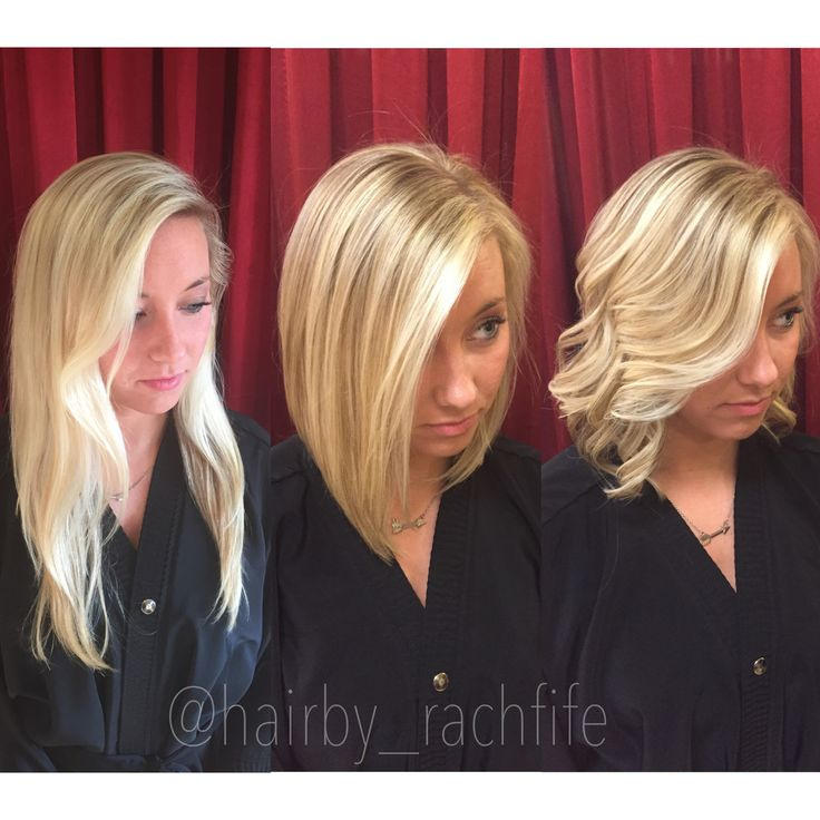 Before and after straight and curly from long hair to a for 101 salon west bloomfield
