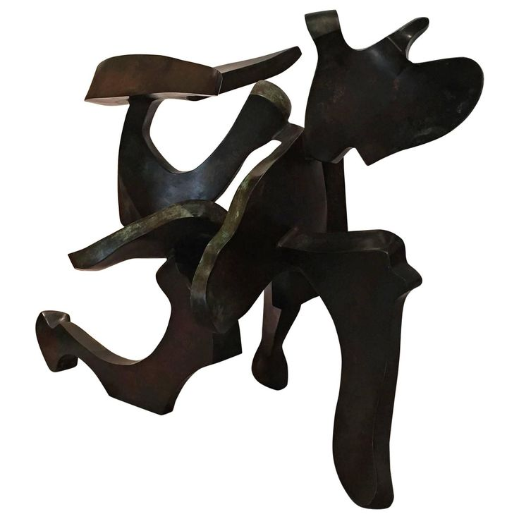 Abstract Patinated Bronze Sculpture Signed and Dated by Bill Barrett, 1995   From a unique collection of antique and modern sculptures at https://www.1stdibs.com/furniture/decorative-objects/sculptures/