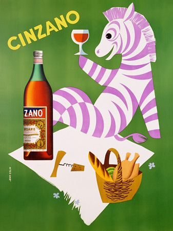 Cinzano by Colin http://www.vintagevenus.com.au/collections/drinks/products/vintage_poster_print-d113