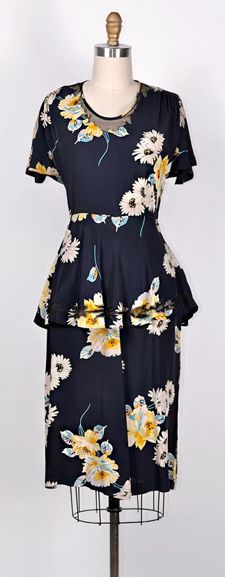 ★ vintage 1940s dress | SPRING ADVANCES DRESS #vintage #1940s #vintagedress