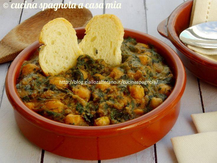 Gli spinaci con ceci alla sivigliana (espinacas con garbanzos a la sevillana, a la andaluza): potaje ricco e saporito. Qui il passo a passo!