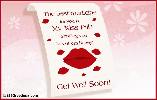 Cute Get Well Soon Messages   sweet 'Get Well Soon' ecard for your sweetheart.