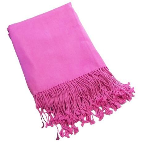 Bamboo Luxury Bright Pink Panther Throw Blanket