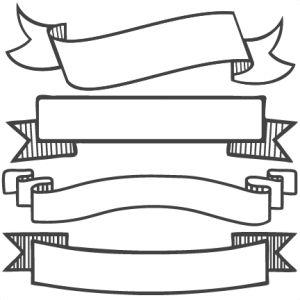 Banner Set SVG scrapbook banners svg cut filesbanners svg files free svgs free svg cuts clipart clip art                                                                                                                                                                                 Más