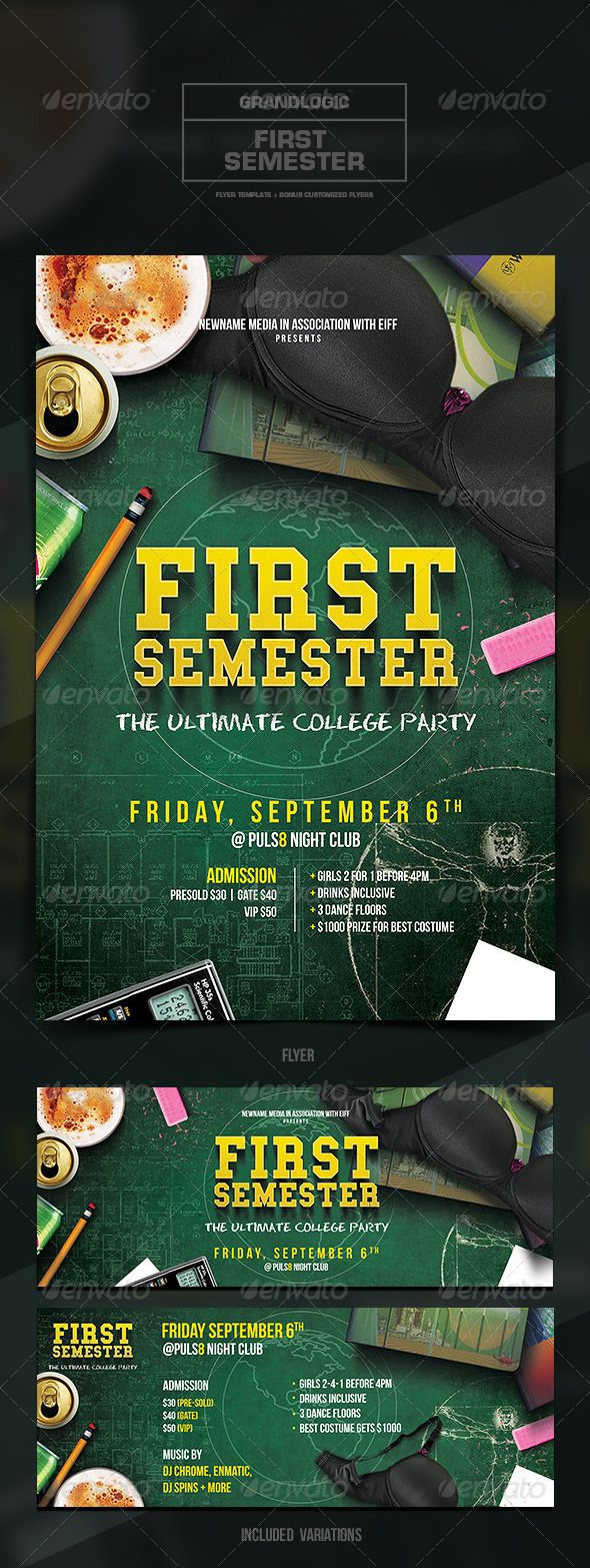 College Party Flyer/Poster #student #to • Available here → http://graphicriver.net/item/college-party-flyerposter/5445822?s_rank=444&ref=pxcr