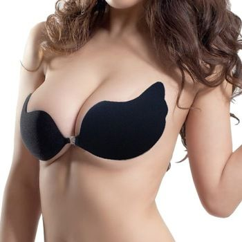 Sexy Lady Strapless Backless Invisible Self-Adhesive Bra Pad Push UP Nude free shipping 5402