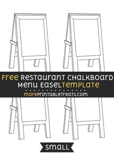 Free Printable Restaurant Menu Template Free Restaurant Chalkboard