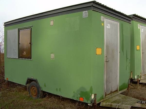 workmen's hut. 9 kvm. Brugt Skurvogn på hjul- koster 1.000,- står i nakskov ...