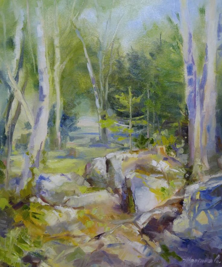 FINEARTSEEN - Such a beautiful day (pleinair) by Alexander Koltakov. A beautiful original Canadian landscape painting. Available on FineArtSeen - The Home Of Original Art. Enjoy Free Delivery with every order. << Pin For Later >>