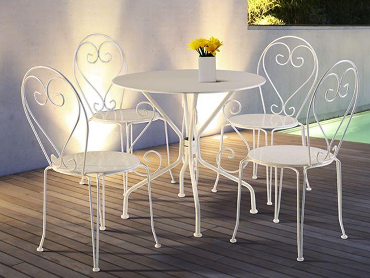 Les 25 meilleures id es de la cat gorie chaise fer forg sur pinterest chai - Table et chaise de jardin en fer forge ...