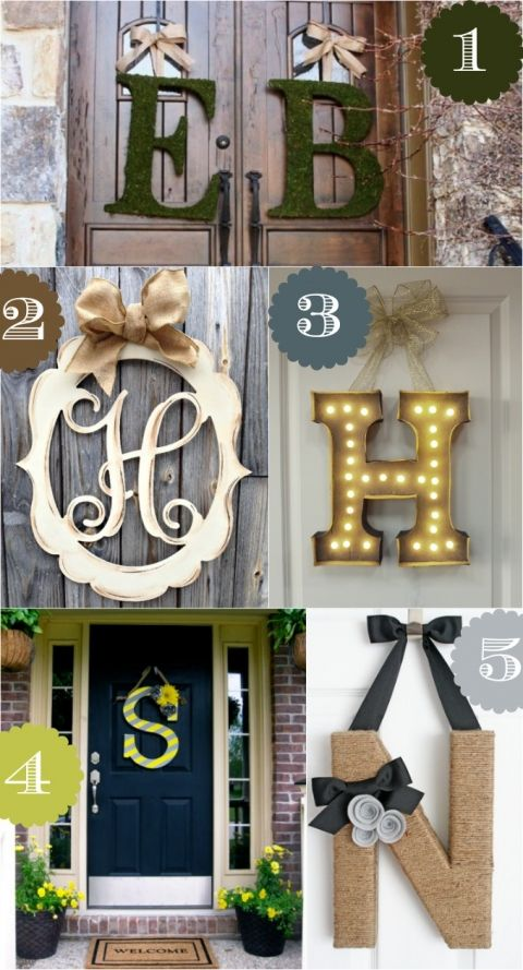 Monogram door decor ideas
