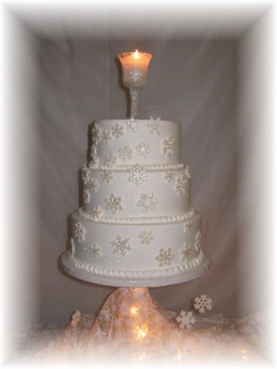 40 Edible Sugar Snowflakes Glitter and Pearlized Cake ...