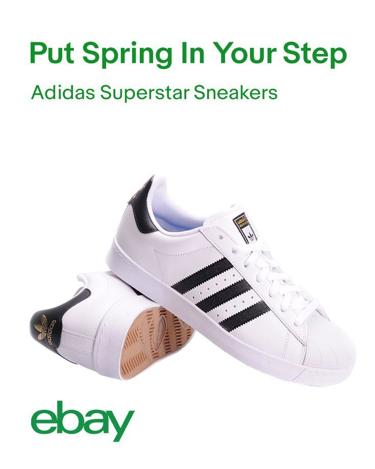 "Nothing screams ""classic!"" like fresh white kicks. Luckily, Adidas Superstar sneakers are always on point. Whether it's jeans or leggings, dress them up or dress them down by adding some old school cool to your look this Spring."