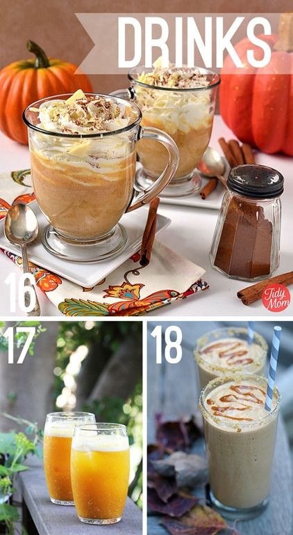#pumpkin and #apple drink recipes at http://whipperberry.com