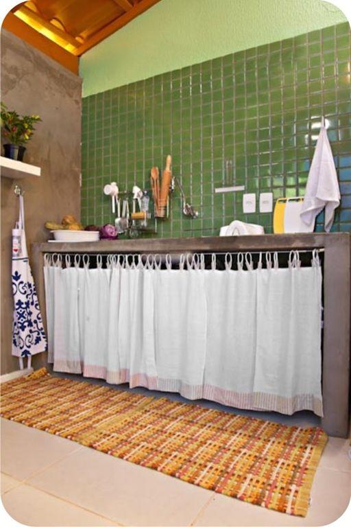 cortina na pia: Casa Reforma, Lars Doces, Twelve Lars, Marcelo Rosenbaum, Things To, Casa Linda, Clear-Blue Curtains, House, Estilo Marcelo