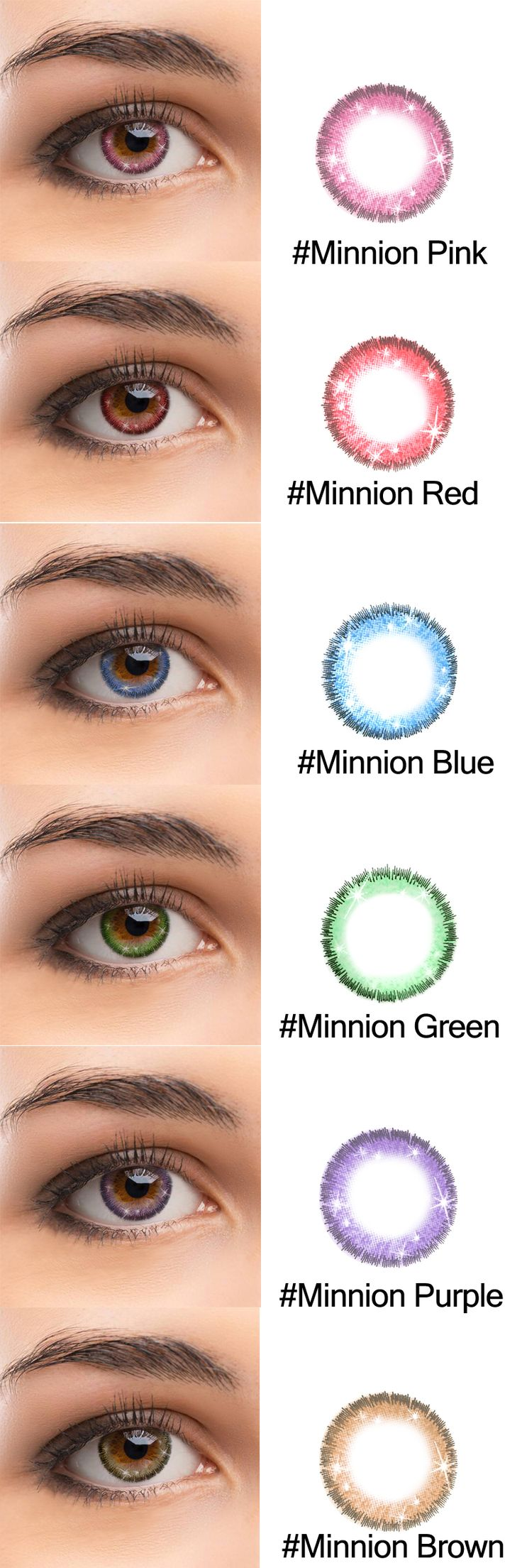 New Brand Colored Lenses TolyTolly. Minnion series has six