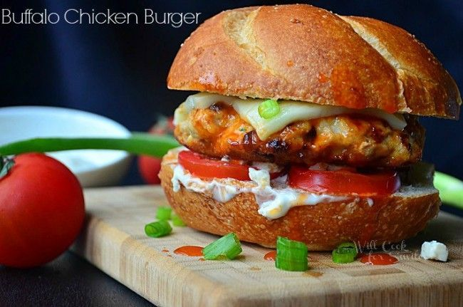 Buffalo Chicken Burger - Will Cook For Smiles.