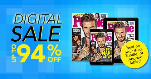 Enjoy up to 94% off digital magazine subscriptions for your iPad, Kindle or Android tablet!