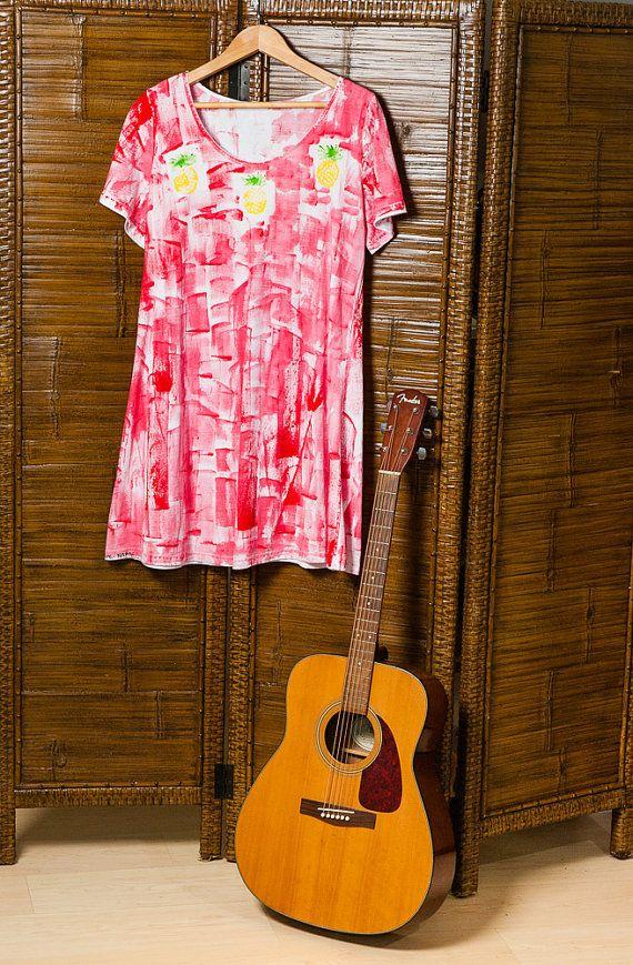 Cotton A line Play Dress Handpainted on Kauai by PetrinaBlakely, $50.00