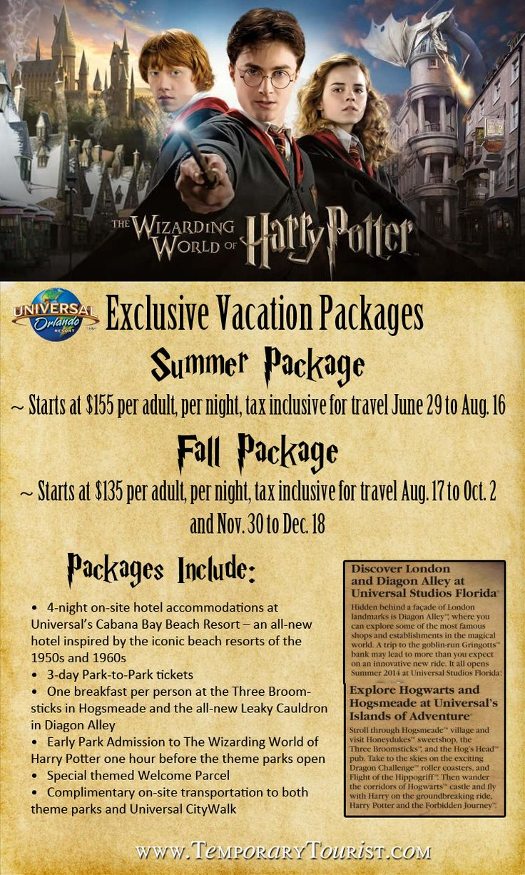 All New Travel Packages for The Wizarding World of Harry Potter – Diagon Alley