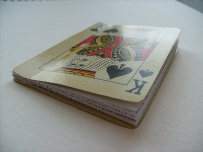 bound playing card notebook