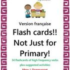 The number of activities and games that can be generated using flash cards is endless! In this unit, you will find 34 flashcards of high frequency ...
