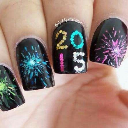 Uñas año nuevo