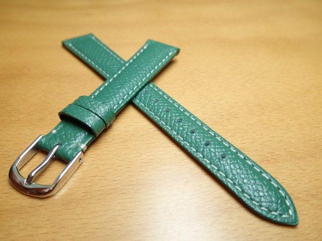 12mm 14mm 時計バンド (腕時計) ベルト カーフ 牛革 グリーン (緑) バネ棒 サービス 腕時計用 時計ベルト 時計用バンド 525円で販売していますバネ棒をサービスでお付けします