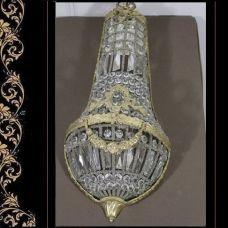 Kroonluchter hanglamp ballon  versaillè transparant goud verguld