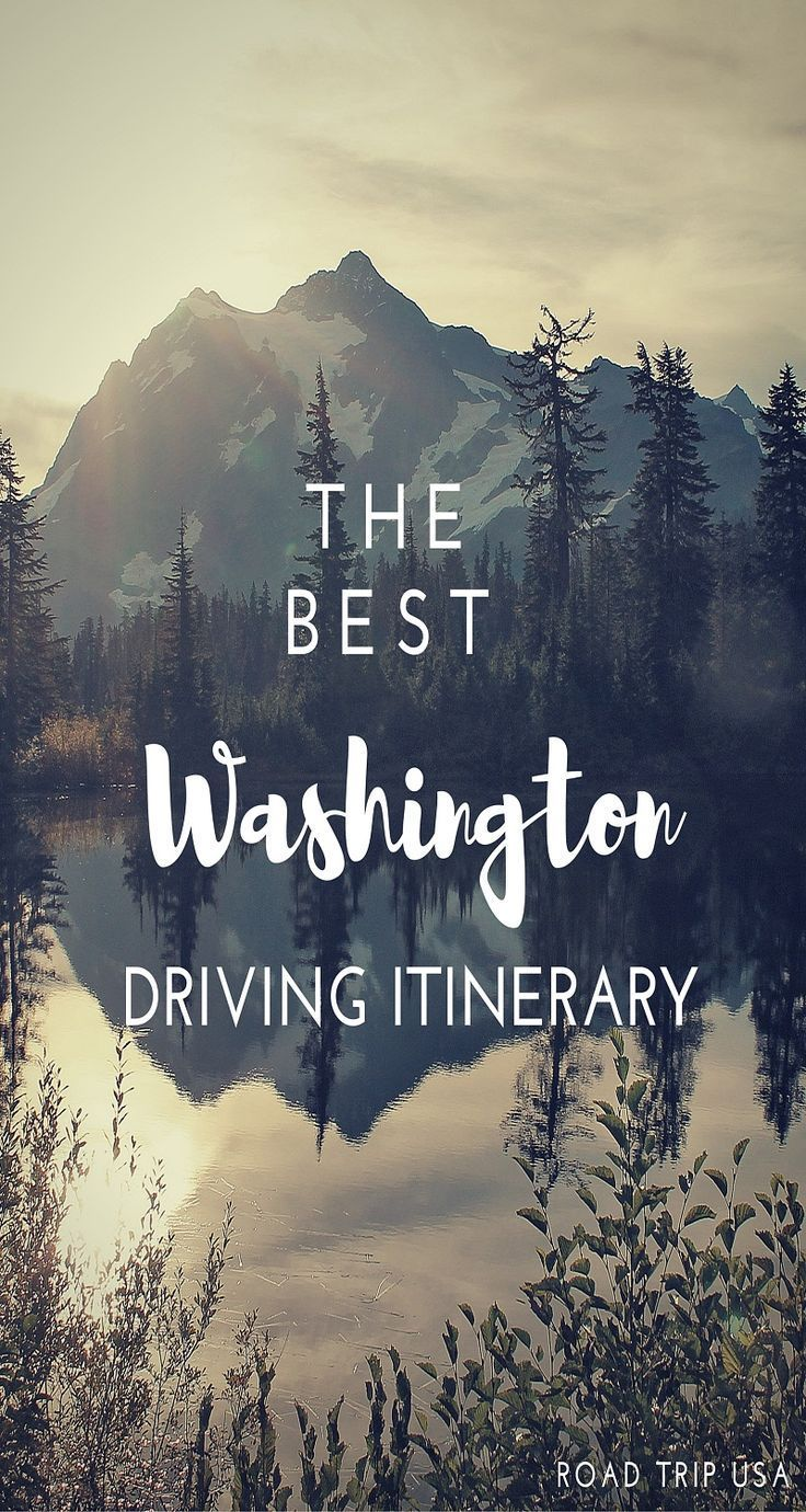 Interactive Map Usa Road Trip%0A The best ROAD TRIP in WASHINGTON STATE   Driving itinerary for northwest  Washington including maps  top attractions and photography