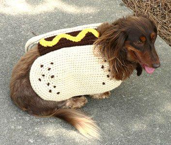 Hot Dog Crochet Coat