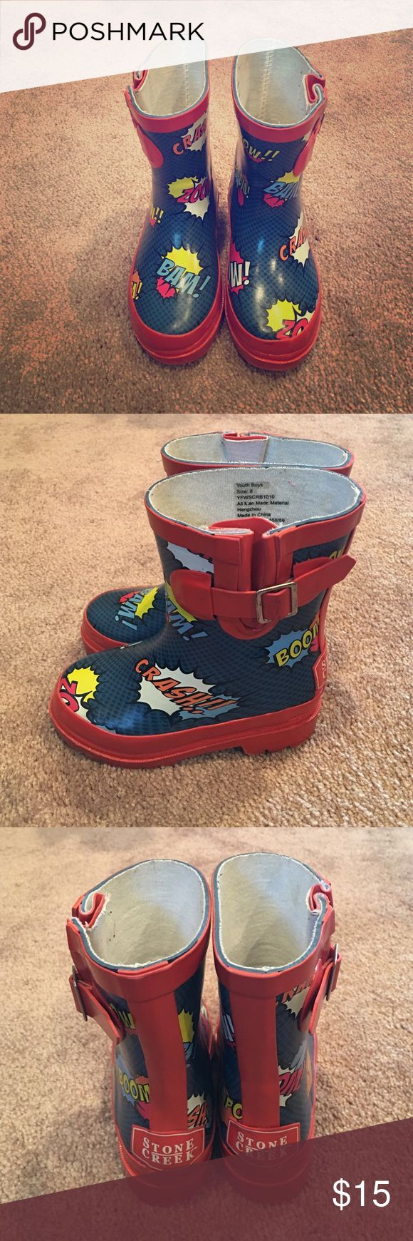 HOST PICK  Toddler Boy Rain boots Boys Rain boots....Gently worn. Shoes Rain & Snow Boots