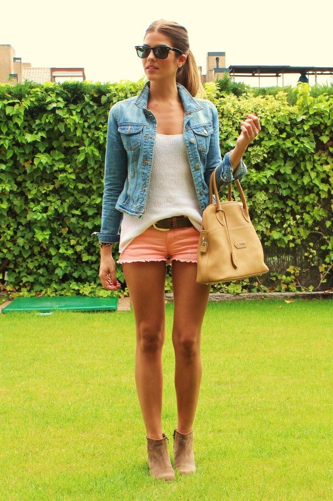 : Fashion, Summer Style, Spring Summer, Summer Outfits, Jean Jackets, Shorts