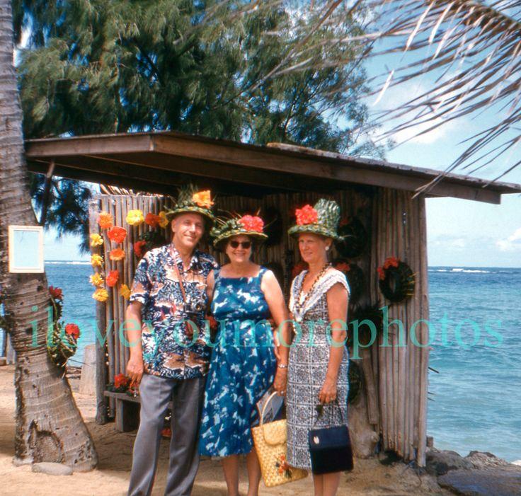 Instant Download..35mm Kodachrome Photo Slide..Hawaiian Hats..1960's..Photo Slide..Vernacular Photo..Greeting Card Supply..Photo Ephemera by iloveyoumorephotos on Etsy