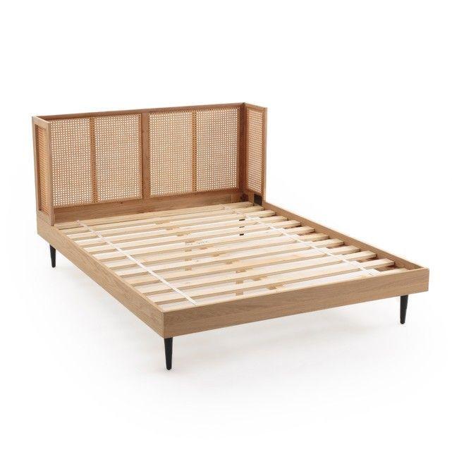 Bett Waska Mit Rattan Kopfteil Und Lattenrost Kopfteil Bett