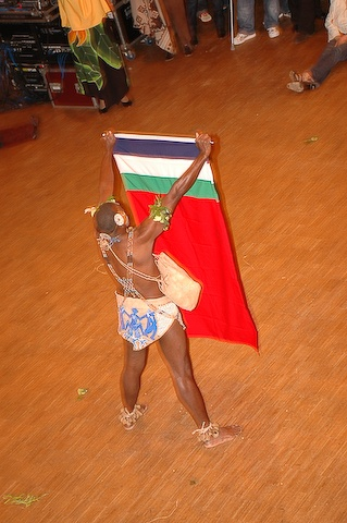 A brother from Solomon Islands with the Moluccan flag