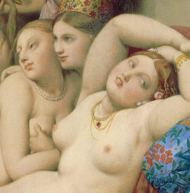 "Scala Regia Inspirational Archives:  ""The Turkish Bath"". Detail. Ingres, 1863."