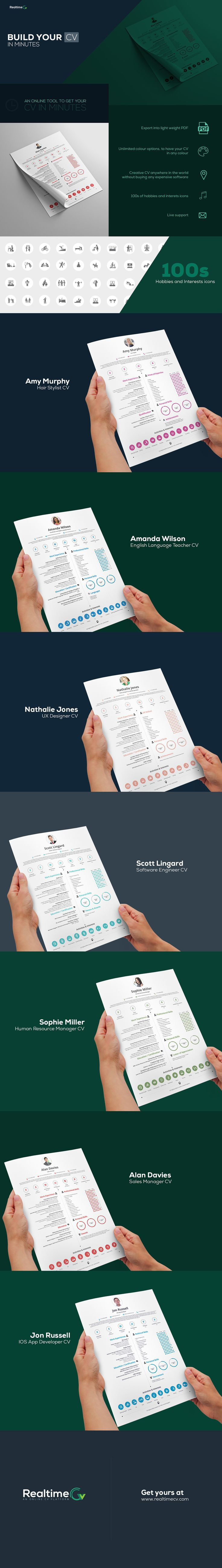 images about cv design resume builder get your info graphic cv in minutes using interactive real time cv tool