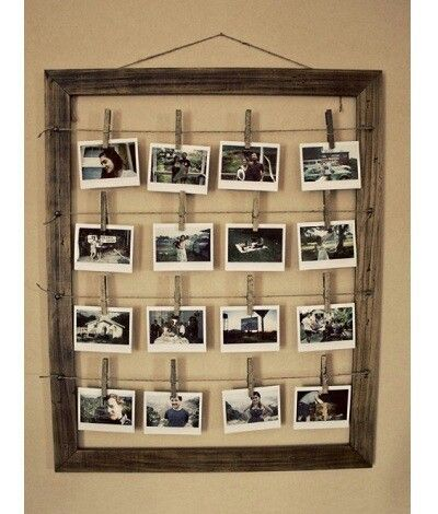 Make your own picture frame.