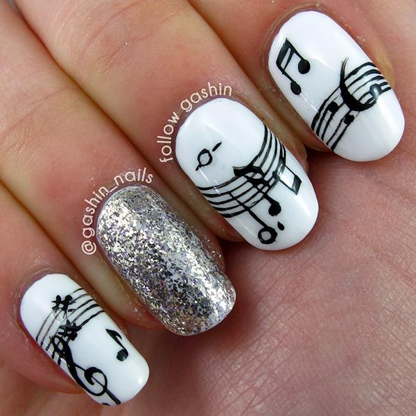 101 Classy Nail Art Designs for Short Nails - Best 25+ Music Nail Art Ideas On Pinterest Music Note Nails