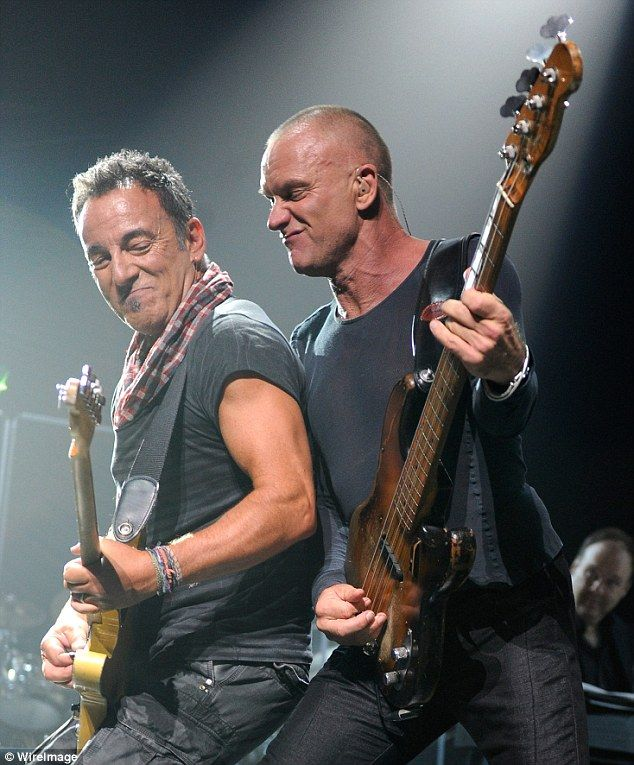 The Boss is on tour again with the E Street Band.....must find a way to see (hey, who invited Sting?)
