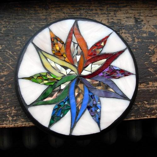 Rainbow Flower Mandala ©Nutmeg Designs.  Commission yours!
