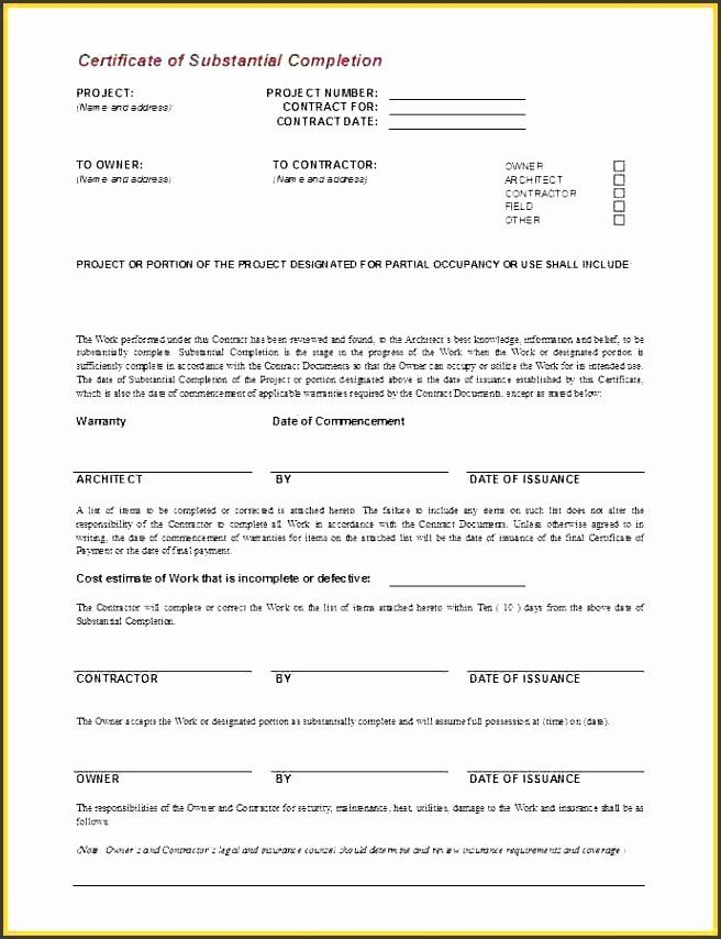 30 Work Completion Form Template In 2020 Certificate Of